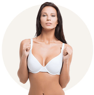 Breast augmentation and lift model 01, Dr Charles Cope